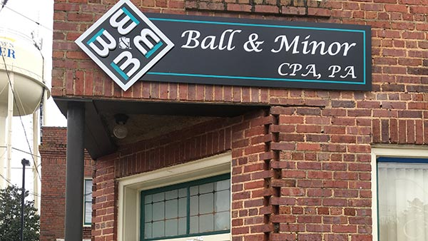 ball and minor cpa office builidng in Garner, NC