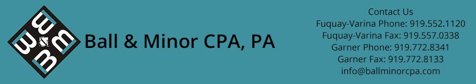 Ball and Minor CPA, PA Fuquay-Varina and Garner